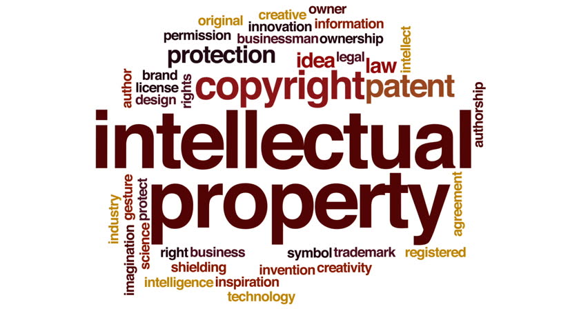 Intellectual property animated word cloud, text design animation. | Shutterstock HD Video #23915215