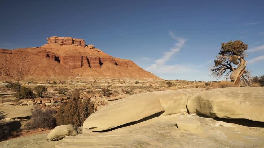 Semi Trailer Long Haul 18 Wheeler Big Rig Black Truck Utah Landscape