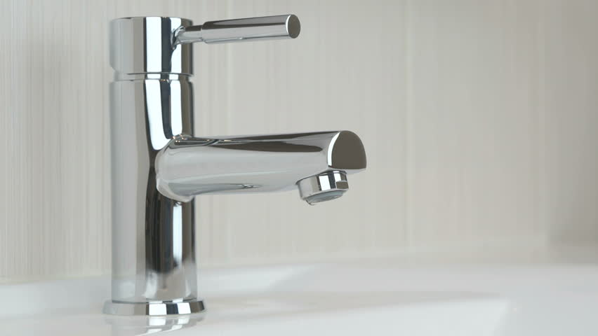 Dripping Kitchen Faucet / Tap. Dolly In / Tracking Shot / Slider ...