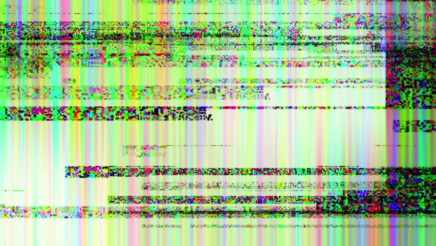 Colored Noise Grunge Glitch Run Video Damage Background
