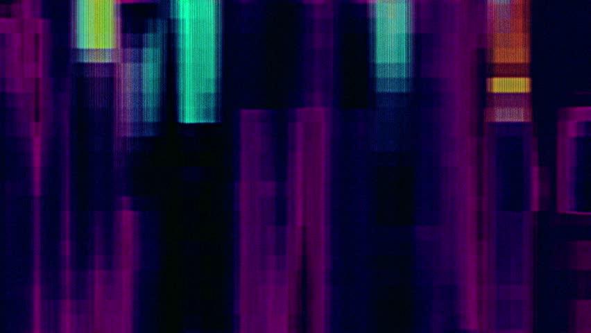 Digital Colored Noise Grunge Glitch Run Video Damage Background