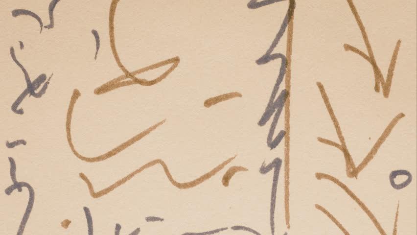 Paper scribble sequence | Shutterstock HD Video #23987194