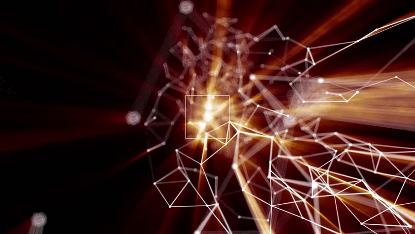 Plexus abstract technology and engineering background with original organic motion | Shutterstock HD Video #24001654