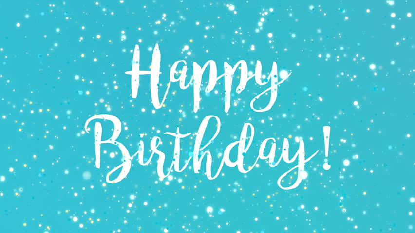 Sparkly Happy Birthday Greeting Card Stock Footage Video (100%  Royalty-free) 24003844 | Shutterstock