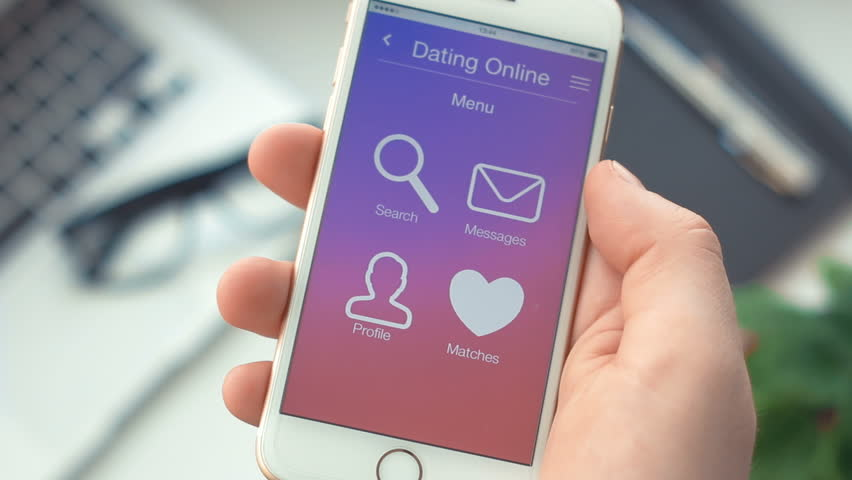 Failed searching for partner on dating app on the smartphone