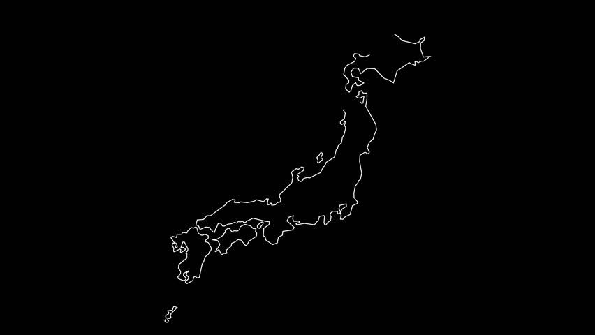 Japan Map Outline Animation Stock Footage Video 100 Royalty