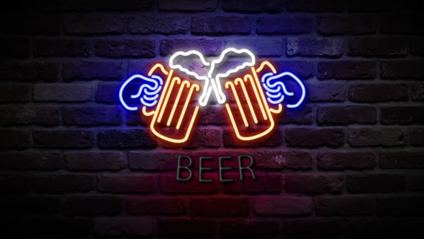 Neon beer bar sign stock footage video 24228775 shutterstock neon beer bar sign hd stock footage clip aloadofball Gallery