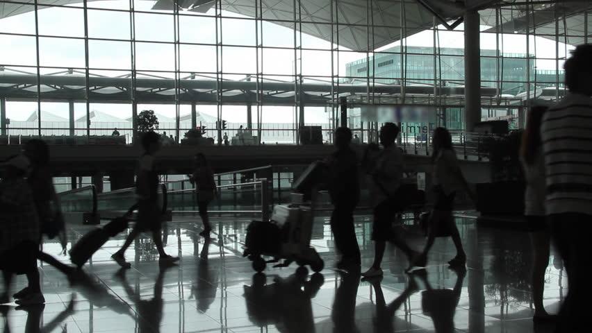 Airport passenger - Hong Kong International Airport.