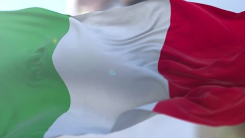 Amazing loopable Italian flag in slow motion.