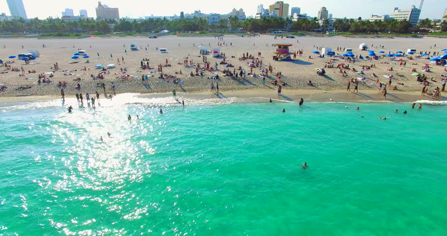 South Beach, Miami Beach, Florida. Atlantic Ocean.