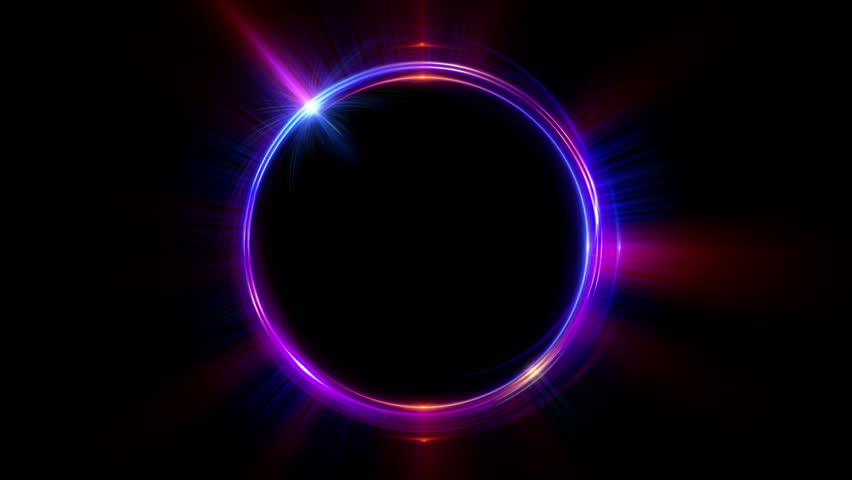 Abstract neon background. luminous swirling. Glowing spiral cover.  Black elegant. Halo around. Power isolated. Sparks particle. Space tunnel. LED color ellipse. Glint glitter. Shimmer loop motion | Shutterstock HD Video #24102934