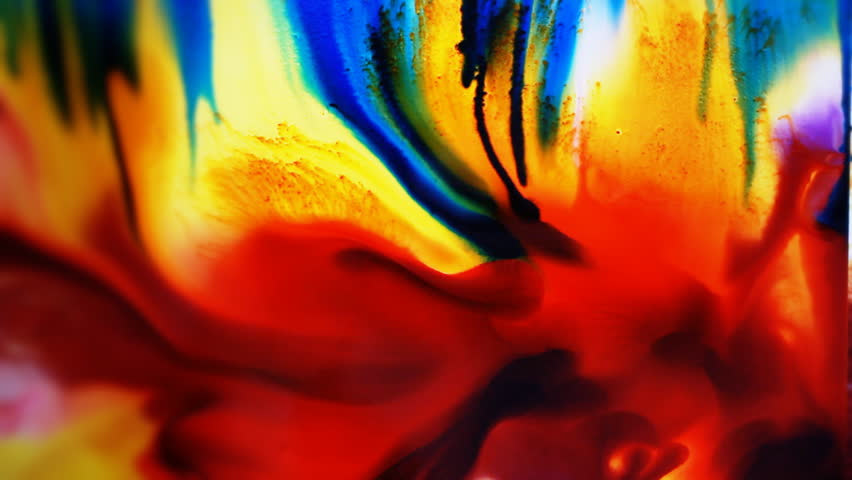 light background paintings colorful ink fluid mixing with water abstract background stock