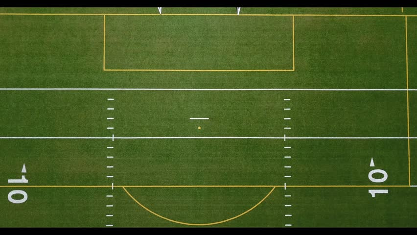Overhead aerial view of football or soccer field #24137314