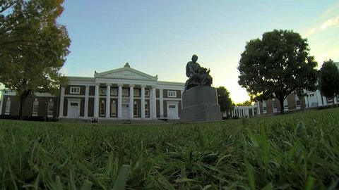 Historical Building University of Virginia Charlottesville Timelapse 4K
