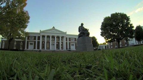 Historical Building University of Virginia Charlottesville Timelapse 4K
