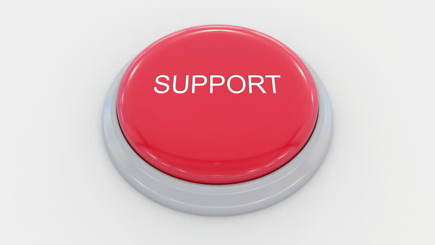 Pushing big red button with support inscription. Conceptual 4K clip | Shutterstock HD Video #24200137