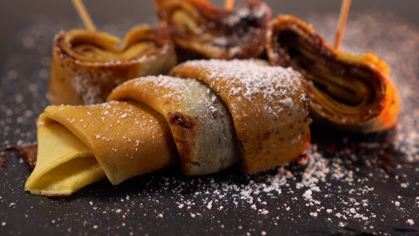 French Chocolate Crepes - a speciality from France - yummy dessert   Shutterstock HD Video #24200704