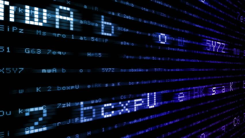 Digital world data space number text.   Shutterstock HD Video #24202714