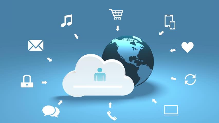 4k,Update the informative cloud,rotate earth,upload progress,web tech background. cg_03811_4k | Shutterstock HD Video #24225154