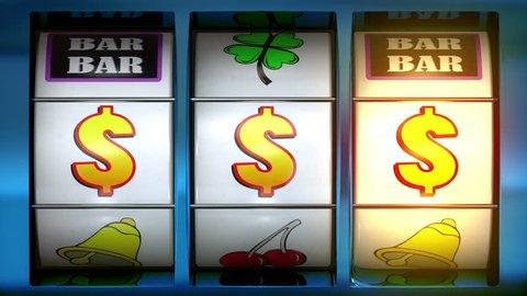 Slot Machine animation showing winning