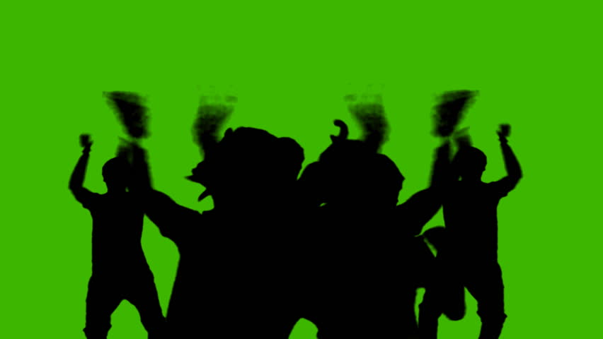dancing people on a green background