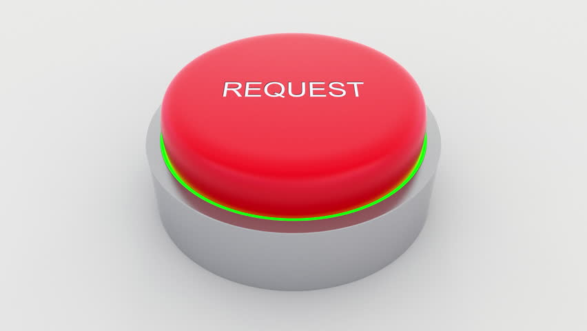 Big red button with request inscription being pushed. Conceptual 4K clip | Shutterstock HD Video #24301424