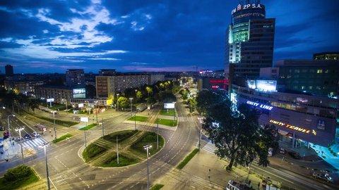 Stetin / Szczecin City, Rodla street timelapse