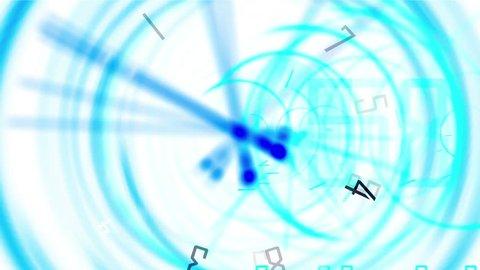 4k Circle and digital time clocks & digital wheels background