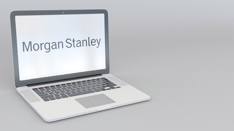 Rotating Opening and Closing Laptop Stock Footage Video (100
