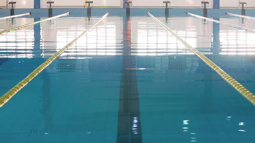 Olympic Swimming Pool Lanes empty olympic swimming pool underwater stock footage video 8737264