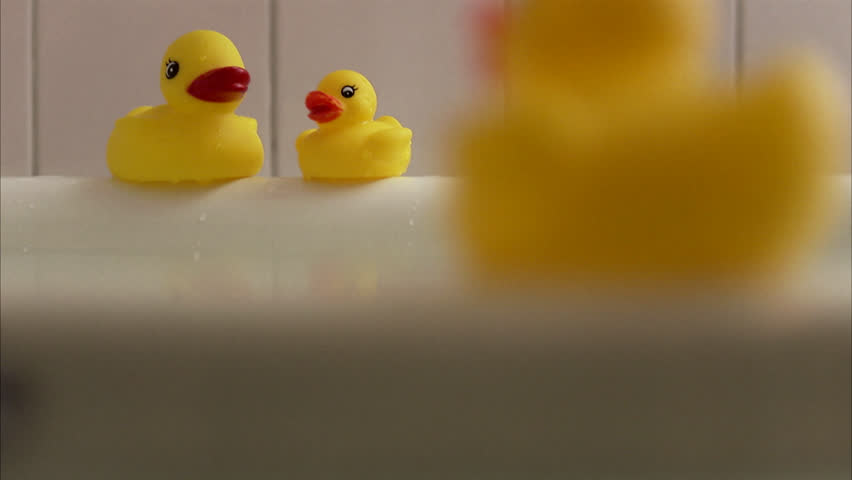 Stock video of small medical rubber bath ducky floats | 5790269 ...