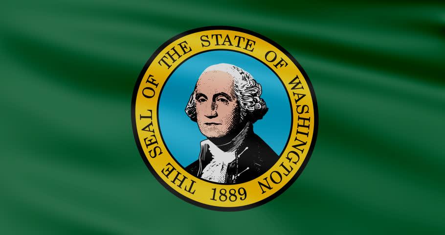 Waving Flag Of Statewaving Flag Of State Of Washington