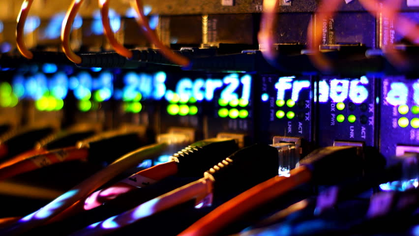 Fully loaded network media converters and ethernet switches.  | Shutterstock HD Video #2465504