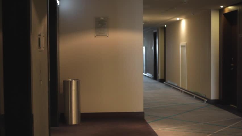 Scary hallway hotel camera travelling high definition pov for Design hotel definition