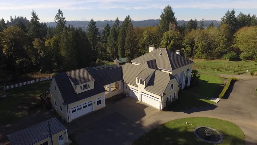 Luxury Mansion in The Country Aerial