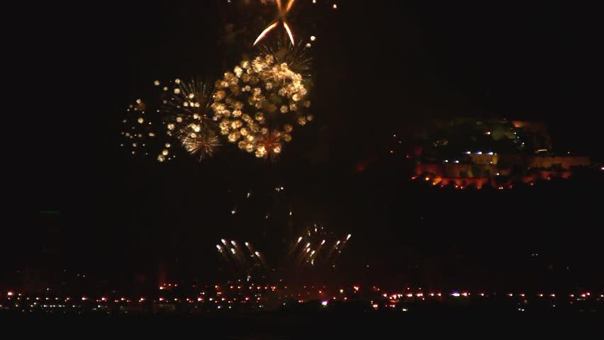 Fireworks show in Alicante Beach #2471624
