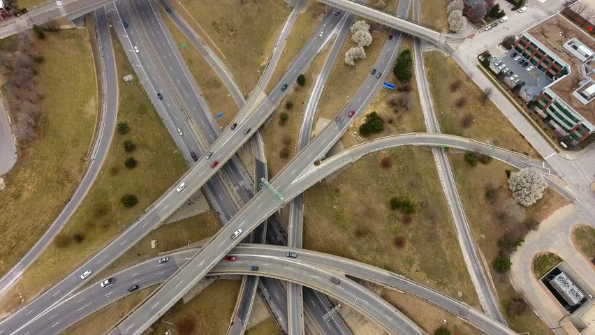 Busy Freeway System in Kansas City