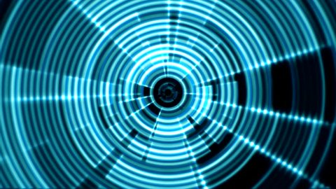 2d Circular Tunnel Portal Vortex Stock Footage Video (100