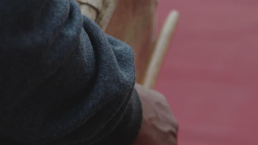 Human hand beats the drum close-up   Shutterstock HD Video #24922424