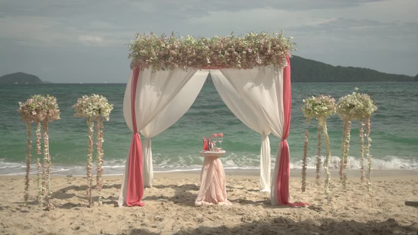 The Exit Sign Beach Wedding On Island In Thailand
