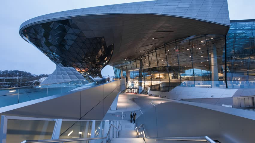 MUNICH, GERMANY - : 5 february 2017 : BMW World (BMW Welt), a multi-functional customer experience and exhibition facility of the BMW AG
