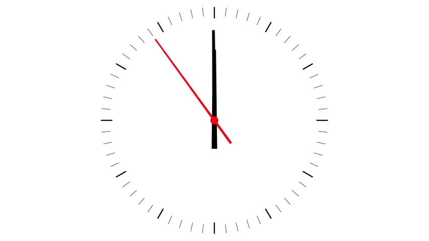 animated clock on white background with red royalty free video. Black Bedroom Furniture Sets. Home Design Ideas