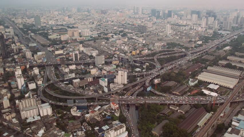 Bangkok traffic aerial view | Shutterstock HD Video #25065194