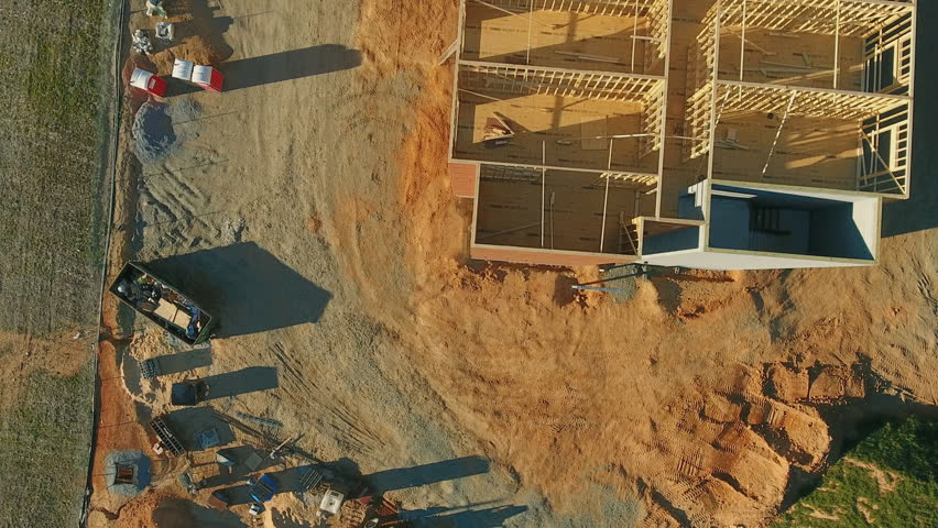 Aerial of Commercial New Construction building in 4k   Shutterstock HD Video #25084454