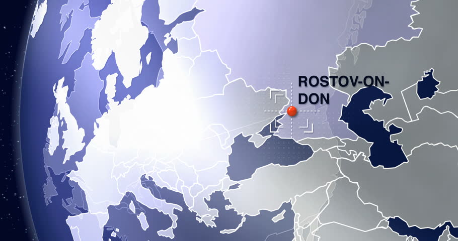 Rostov On Don Animated World Map Zoom Stock Footage Video 100