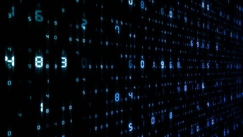 Digital world data space number text.   Shutterstock HD Video #25142954