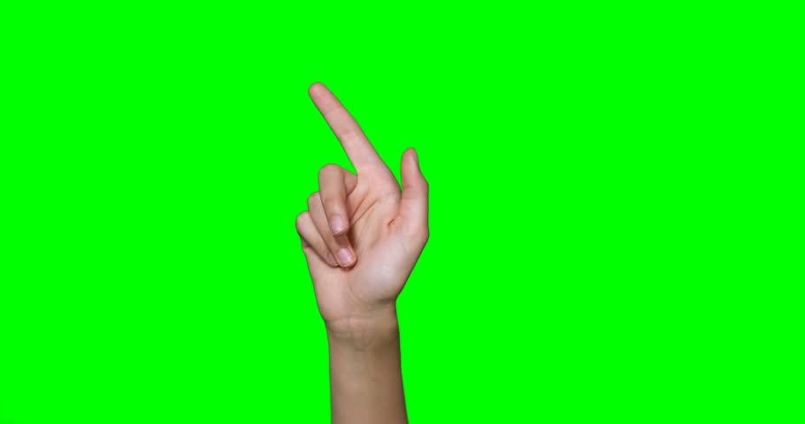 Hands making symbol against green screen | Shutterstock HD Video #25233158