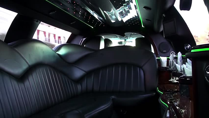 A trip Inside the luxury stretch limousine.