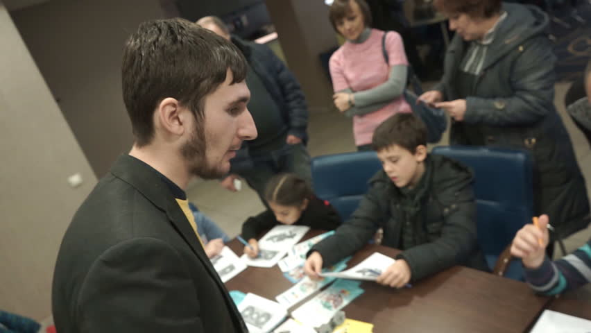 Ukraine 12 November 2016. Organization of a training course on the development of mental and intellectual ability in school-age children. Teachers and parents take part in teaching children | Shutterstock HD Video #25373534