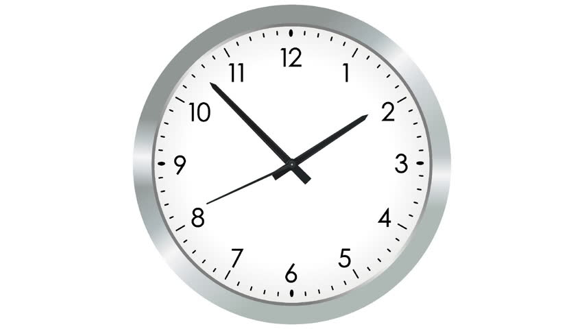 HD Clock Isolated On White Background Stock Footage Video ...